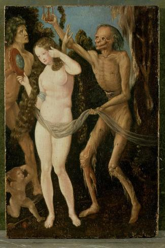 An Allegory of Death and Beauty-Hans Baldung Grien-Stretched Canvas Print