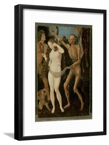 An Allegory of Death and Beauty-Hans Baldung Grien-Framed Art Print
