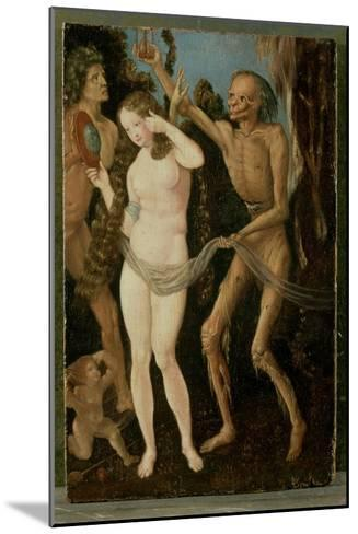 An Allegory of Death and Beauty-Hans Baldung Grien-Mounted Giclee Print