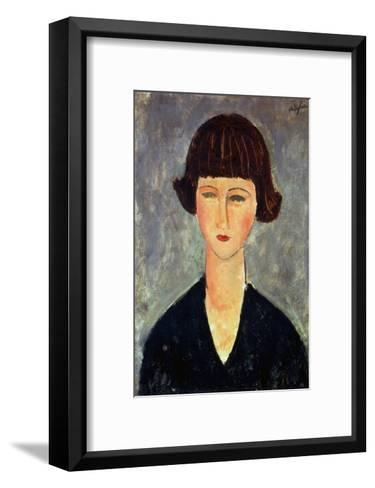 Young Brunette, 1917-Amedeo Modigliani-Framed Art Print