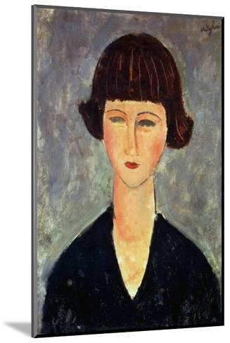 Young Brunette, 1917-Amedeo Modigliani-Mounted Giclee Print
