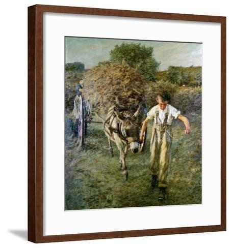 The Haywain, circa 1889-Henry Herbert La Thangue-Framed Art Print