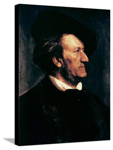 Portrait of Richard Wagner-Franz Seraph von Lenbach-Stretched Canvas Print