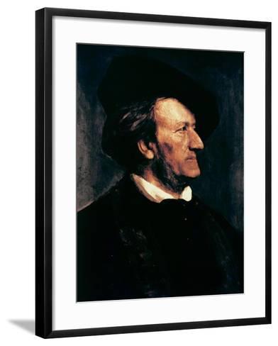 Portrait of Richard Wagner-Franz Seraph von Lenbach-Framed Art Print