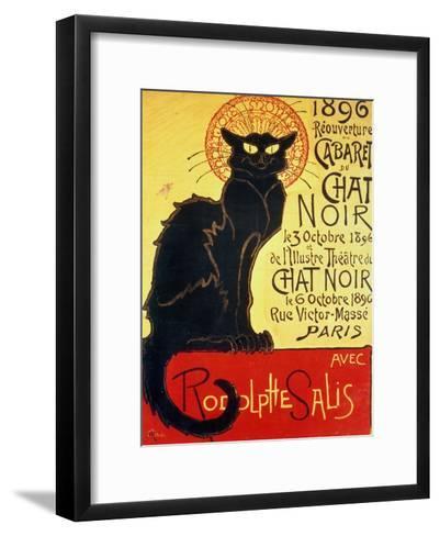 Reopening of the Chat Noir Cabaret, 1896-Th?ophile Alexandre Steinlen-Framed Art Print