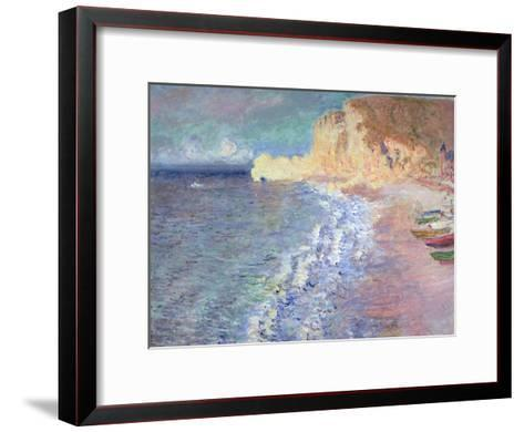 Morning at Etretat, 1883-Claude Monet-Framed Art Print