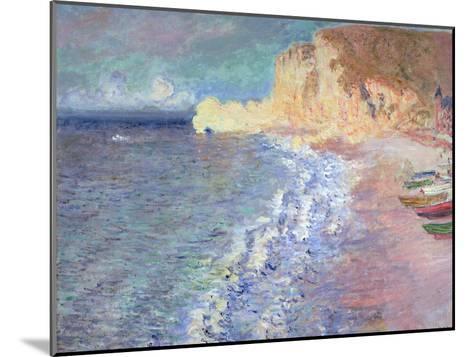 Morning at Etretat, 1883-Claude Monet-Mounted Giclee Print