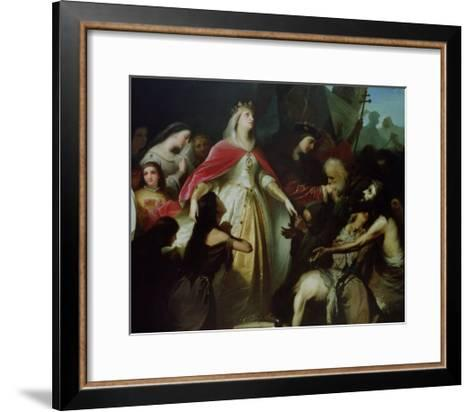 Detail of the Catholic Monarchs Receiving the Christian Captives after the Conquest of Malaga-Eduardo Cano de la Peña-Framed Art Print