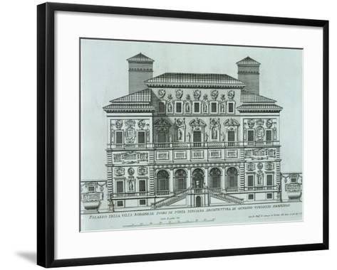 View of the Facade of Villa Borghese, Rome--Framed Art Print