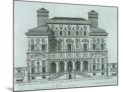 View of the Facade of Villa Borghese, Rome--Mounted Giclee Print