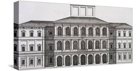 """Palazzo Barberini on the Quirinale, Finished 1630, from """"Palazzi Di Roma,"""" Part I, Published 1655-Pietro Or Falda Ferrerio-Stretched Canvas Print"""