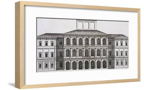 """Palazzo Barberini on the Quirinale, Finished 1630, from """"Palazzi Di Roma,"""" Part I, Published 1655-Pietro Or Falda Ferrerio-Framed Art Print"""