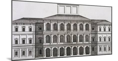 """Palazzo Barberini on the Quirinale, Finished 1630, from """"Palazzi Di Roma,"""" Part I, Published 1655-Pietro Or Falda Ferrerio-Mounted Giclee Print"""