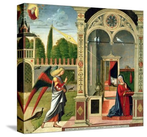 The Annunciation-Vittore Carpaccio-Stretched Canvas Print