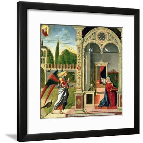The Annunciation-Vittore Carpaccio-Framed Art Print