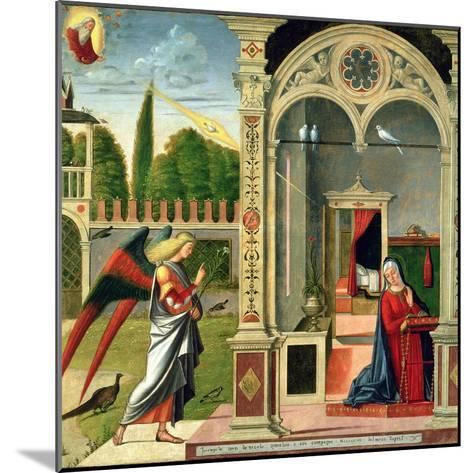 The Annunciation-Vittore Carpaccio-Mounted Giclee Print