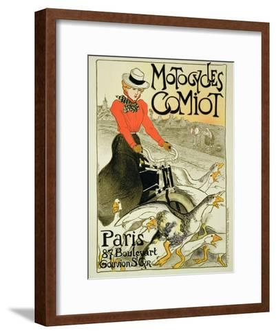 Reproduction of a Poster Advertising Comiot Motorcycles, 1899-Th?ophile Alexandre Steinlen-Framed Art Print
