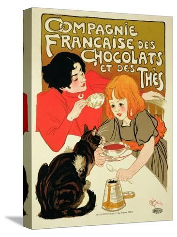 Reproduction of a Poster Advertising the French Company of Chocolate and Tea-Th?ophile Alexandre Steinlen-Stretched Canvas Print