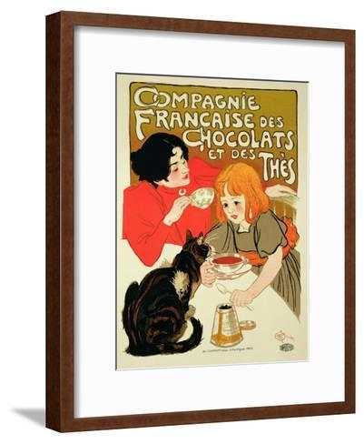 Reproduction of a Poster Advertising the French Company of Chocolate and Tea-Th?ophile Alexandre Steinlen-Framed Art Print