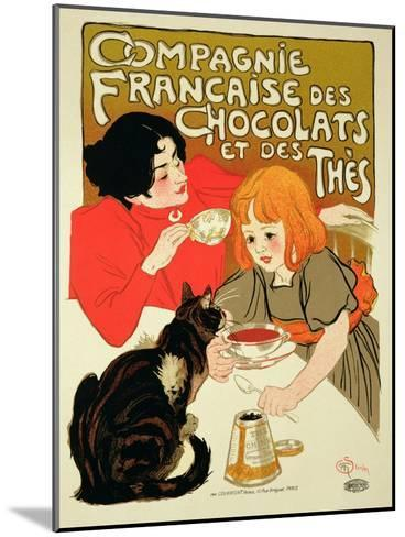 Reproduction of a Poster Advertising the French Company of Chocolate and Tea-Th?ophile Alexandre Steinlen-Mounted Giclee Print