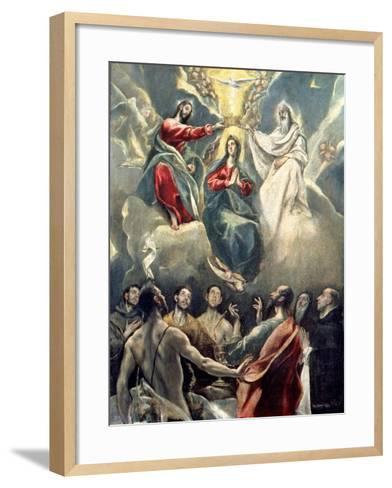 The Coronation of the Virgin-El Greco-Framed Art Print