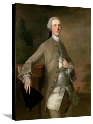 Portrait of David Garrick, 1742-Thomas Gainsborough-Stretched Canvas Print