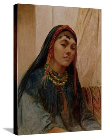 Portrait of a Middle Eastern Girl, circa 1859-Frederick Goodall-Stretched Canvas Print