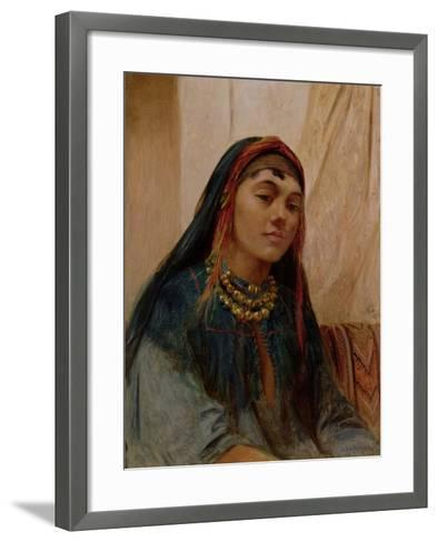 Portrait of a Middle Eastern Girl, circa 1859-Frederick Goodall-Framed Art Print