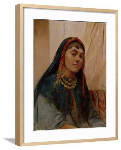 Portrait of a Middle Eastern Girl, circa 1859-Frederick Goodall-Framed Art Print