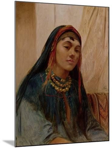 Portrait of a Middle Eastern Girl, circa 1859-Frederick Goodall-Mounted Giclee Print