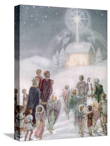 A Christmas Card from a Watercolour-Daphne Allan-Stretched Canvas Print