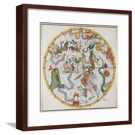 """Plate 27 from """"Atlas Coelestis,"""" by John Flamsteed, Published in 1729-Sir James Thornhill-Framed Art Print"""