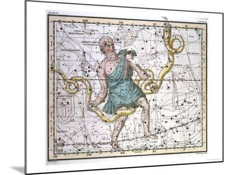 """Ophiuchus or Serpentarius, from """"A Celestial Atlas,"""" Published in 1822-A^ Jamieson-Mounted Giclee Print"""