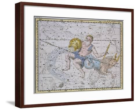 """Aquarius and Capricorn, from """"A Celestial Atlas,"""" Published in 1822-A^ Jamieson-Framed Art Print"""