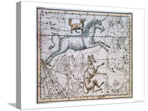 """Monoceros, from """"A Celestial Atlas,"""" Published in 1822-A^ Jamieson-Stretched Canvas Print"""