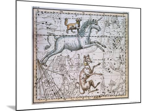 """Monoceros, from """"A Celestial Atlas,"""" Published in 1822-A^ Jamieson-Mounted Giclee Print"""