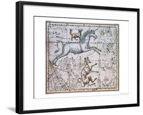 """Monoceros, from """"A Celestial Atlas,"""" Published in 1822-A^ Jamieson-Framed Art Print"""