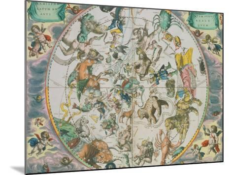 Celestial Planisphere Showing the Signs of the Zodiac-Andreas Cellarius-Mounted Giclee Print