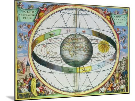 """Map of Christian Constellations, from """"The Celestial Atlas, or the Harmony of the Universe""""-Andreas Cellarius-Mounted Giclee Print"""