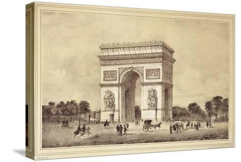 L'Arc De Triomphe, Paris-Jean Jacottet-Stretched Canvas Print