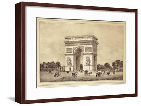 L'Arc De Triomphe, Paris-Jean Jacottet-Framed Art Print