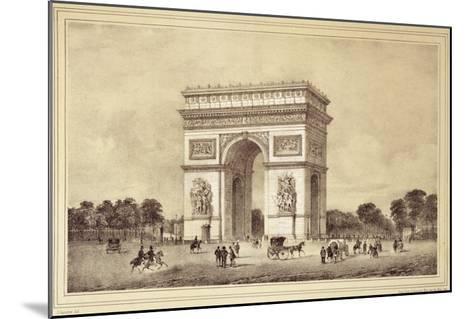 L'Arc De Triomphe, Paris-Jean Jacottet-Mounted Giclee Print