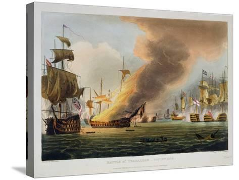 """The Battle of Trafalgar, October 21st 1805, for J. Jenkins's """"Naval Achievements""""-Thomas Whitcombe-Stretched Canvas Print"""