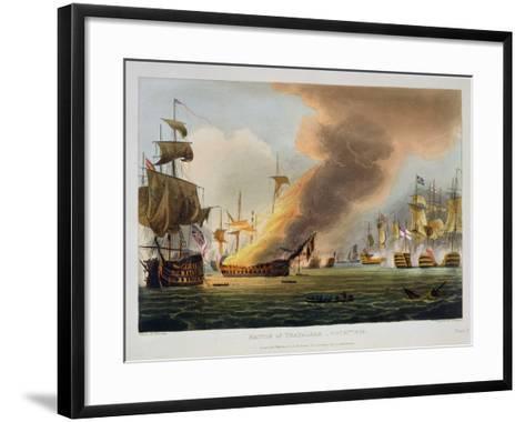 "The Battle of Trafalgar, October 21st 1805, for J. Jenkins's ""Naval Achievements""-Thomas Whitcombe-Framed Art Print"