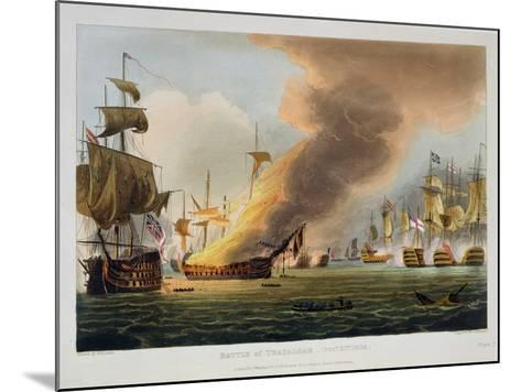 """The Battle of Trafalgar, October 21st 1805, for J. Jenkins's """"Naval Achievements""""-Thomas Whitcombe-Mounted Giclee Print"""