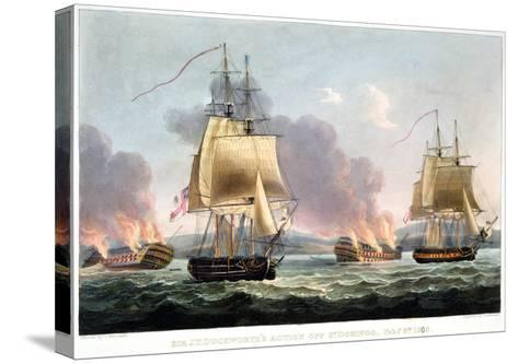 Sir J. T. Duckworth's Action off St. Domingo, February 6th 1806-Thomas Whitcombe-Stretched Canvas Print