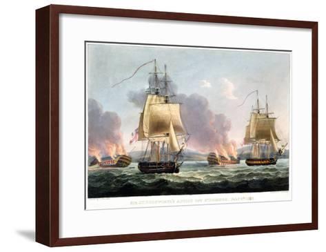 Sir J. T. Duckworth's Action off St. Domingo, February 6th 1806-Thomas Whitcombe-Framed Art Print