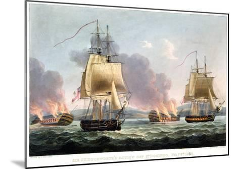 Sir J. T. Duckworth's Action off St. Domingo, February 6th 1806-Thomas Whitcombe-Mounted Giclee Print