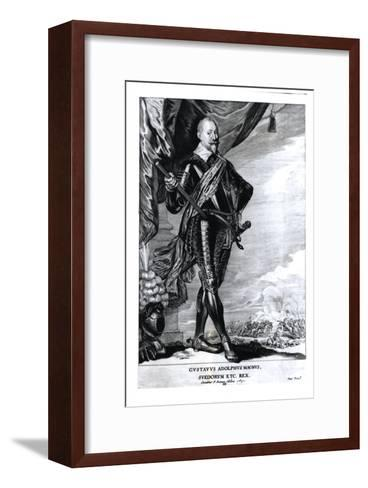 Portrait of Gustavus Adolphus the Great, King of the Swedes, 1650-Pieter Claesz Soutman-Framed Art Print