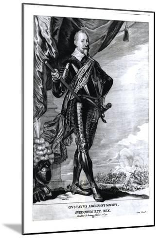 Portrait of Gustavus Adolphus the Great, King of the Swedes, 1650-Pieter Claesz Soutman-Mounted Giclee Print